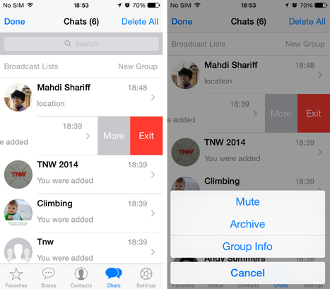 WhatsApp for iPhone gets option to archive chats, trim videos, add photo captions and more | Technological Sparks | Scoop.it