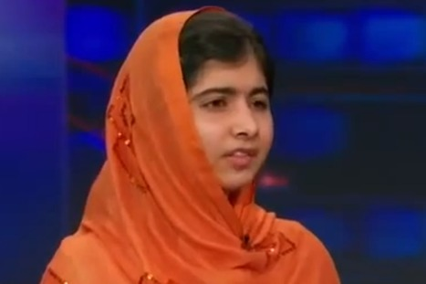 Malala Yousafzai on The Daily Show video: Girl shot by Taliban leaves host Jon Stewart speechless with her message of peace   Humanities   Scoop.it