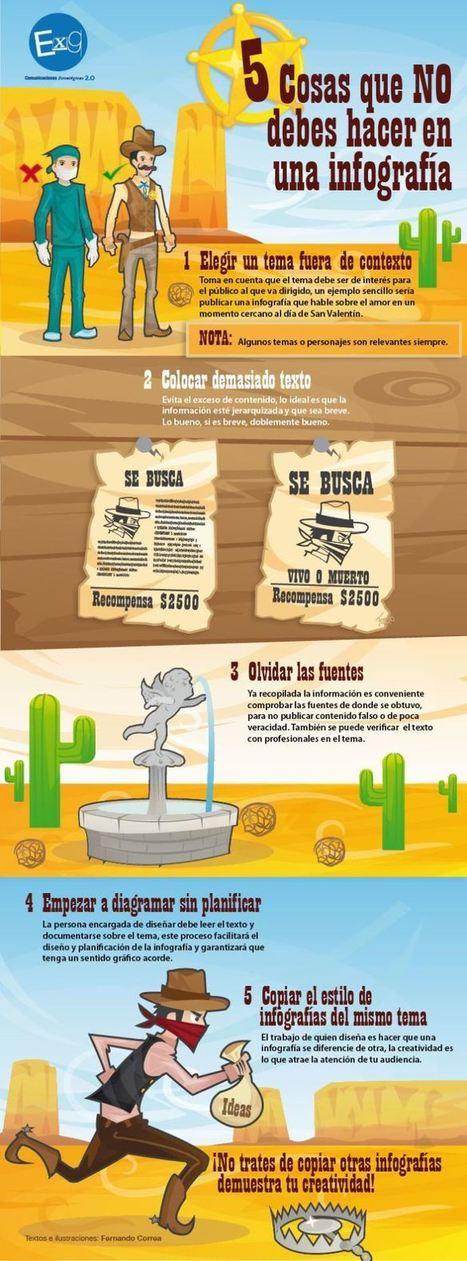 5 Cosas que Debes Evitar al Construir una Infografía | Infografía | Educacion, ecologia y TIC | Scoop.it