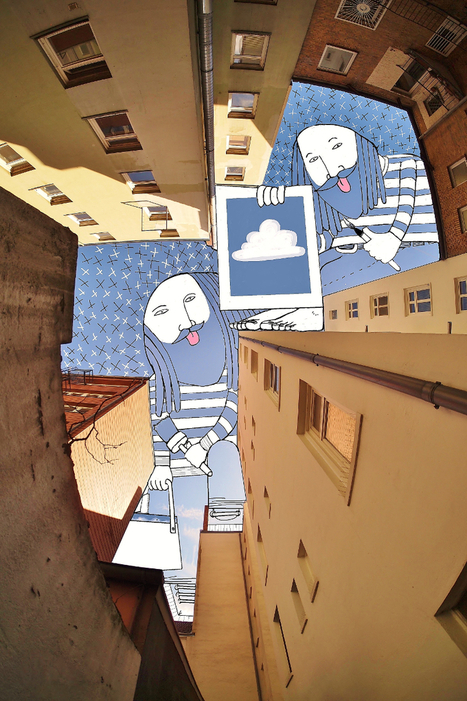 Sky art: illustrations in the sky between buildings | PROYECTO ESPACIOS | Scoop.it