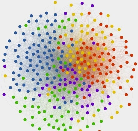 Visualising the network of co-enrolled course subjects - Katy Jordan | Networks and Graphs | Scoop.it