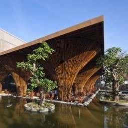 Kontum Indochine Cafe with conical bamboo columns by Vo Trong Nghia | The Architecture of the City | Scoop.it