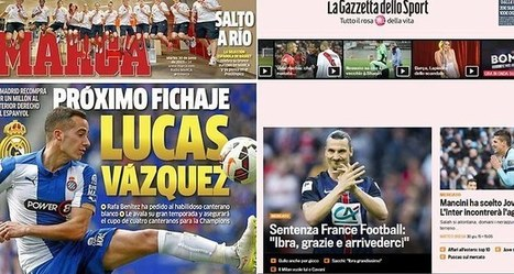 En Espagne et en Italie aussi, la presse sportive se restructure | New Journalism | Scoop.it