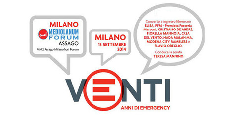Stasera, concerto in diretta per i 20 anni di Emergency – #20anniE | InTime - Social Media Magazine | Scoop.it
