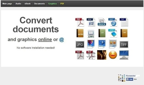 Konwerter: un sitio web para convertir todo tipo de archivos | Education | Scoop.it