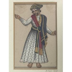 Male dancer (1850) | male dancers of bharatanatyam | Scoop.it