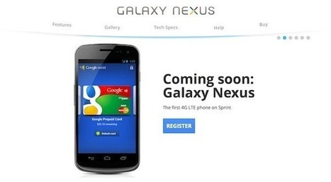 Sprint Galaxy Nexus registration page gets served up by Google | Google stuff | Scoop.it