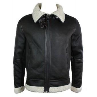 Mens Faux Sheepskin Flying Jacket Winter Warm Fleece Lined Brown Zipped | Mens clothing | Scoop.it