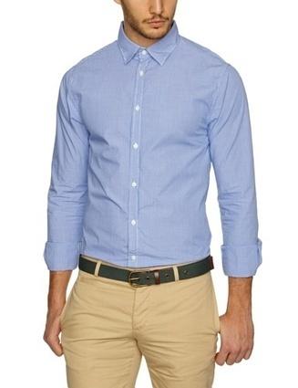 @@@   Scotch & Soda Herren Hemd 13010120003 – L/s blue serie with oxford elbowpatches, Gr. 54 (XXL), Mehrfarbig (A – dessin A)   Hemden Bekleidung   Scoop.it