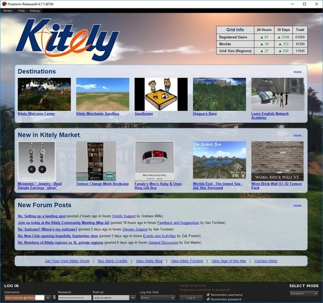 Kitely Improved Viewer Login Page | Second Life and other Virtual Worlds | Scoop.it