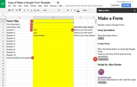 Alice's Quick Way to Make a Google Form - by @alicekeeler | Moodle and Web 2.0 | Scoop.it