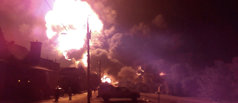 Crude Oil Transport Train Explosion Incinerates Surrounding Neighborhoods | EcoWatch | Scoop.it
