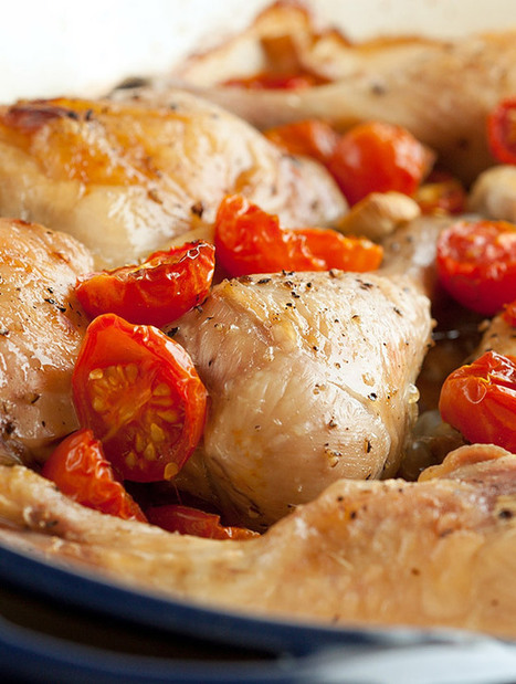 Baked Chicken with Garlic and Cherry Tomatoes Recipe | The Man With ...