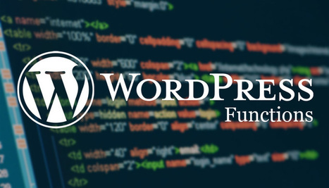 10 Useful WordPress Functions You Might Not Know About | SEO Web Design | Scoop.it