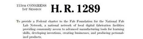 """Fab Lab"" Bill Would Stimulate Manufacturing Innovation 