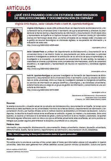 ¿Qué está pasando con los estudios universitarios de Biblioteconomía y Documentación en España? | Las Tics y las ciencias de la informacion | Scoop.it