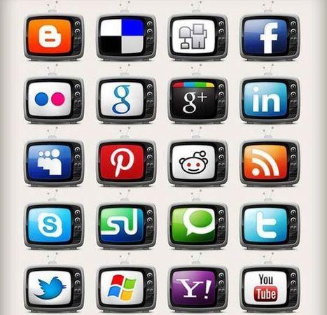 Television Social Media Icons Set, 20 iconos sociales gratuitos con forma de televisión | Recull diari | Scoop.it