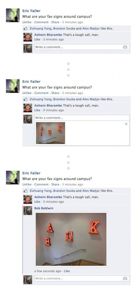 Facebook : Commentaires photos pour illustrer une réponse ! - WebLife | la communication du futur | Scoop.it