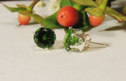 Fine Jewelry Sterling Silver .70 Carats Classic Round Cut Peridot CZ Earrings | keyRetail Weekly | Scoop.it