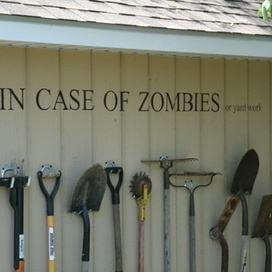 Storing garden tools with style (aka Zombiewall) | Natural Soil Nutrients | Scoop.it