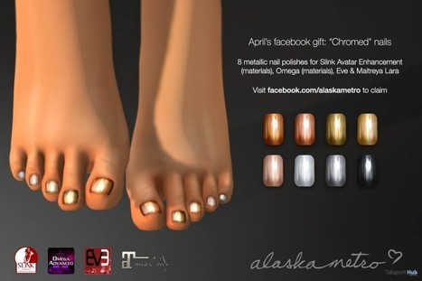 Chromed Nails with Mesh Body Appliers Facebook Gift by alaskametro | Teleport Hub - Second Life Freebies | Second Life Freebies | Scoop.it