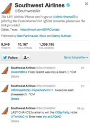 Southwest Airlines Is Flying High on Twitter   Business Communication 2.0: Social Media and Digital Communication   Scoop.it
