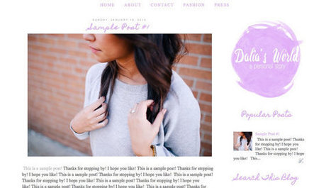 Minimal Pre made Blogger Template / Blogger Theme / Blog Template /  Fashion and Lifestyle Blogger Design | New Blogger | Blogger themes | Scoop.it