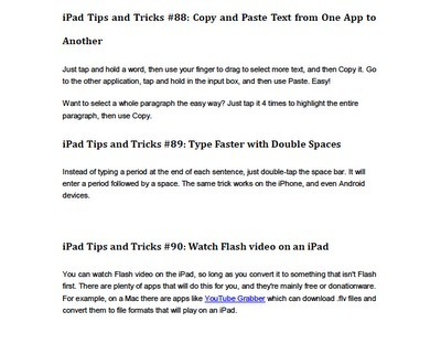 Apps in Education: 100 iPad Tips and Tricks for 2011 | iPads for the Bribie Cluster | Scoop.it