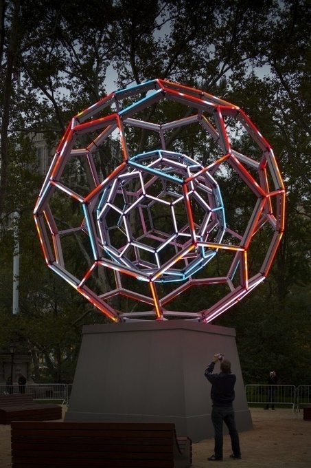Buckyball by Leo Villareal | Art Installations, Sculpture, Contemporary Art | Scoop.it