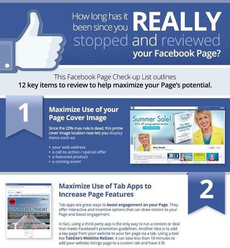 Facebook Page Checkup Guide [INFOGRAPHIC CHECKLIST] | Great Social Media Tips and Ideas | Scoop.it
