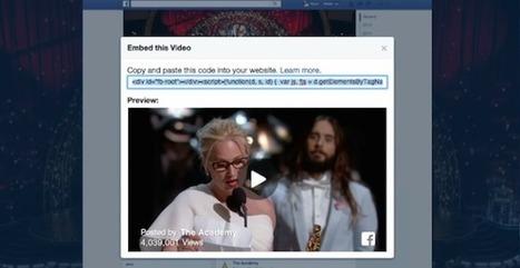 Les vidéos de Facebook sont désormais exportables sur blogs et forums   Community management   Scoop.it