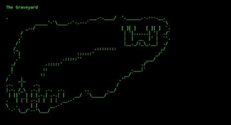CEMETARY - ASCII ART | ASCII Art | Scoop.it