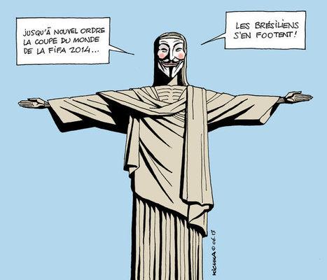 Brésil : la police disperse une manifestation anti-Mondial | Le  Brésil : des inégalités qui persistent et qui  freinent l'essor d'une BRICS | Scoop.it