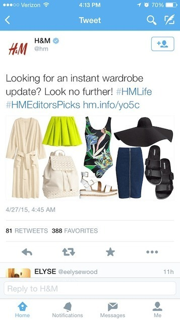 H&M shares marketing content it knows its consumer will enjoy | e-commerce social media | Scoop.it