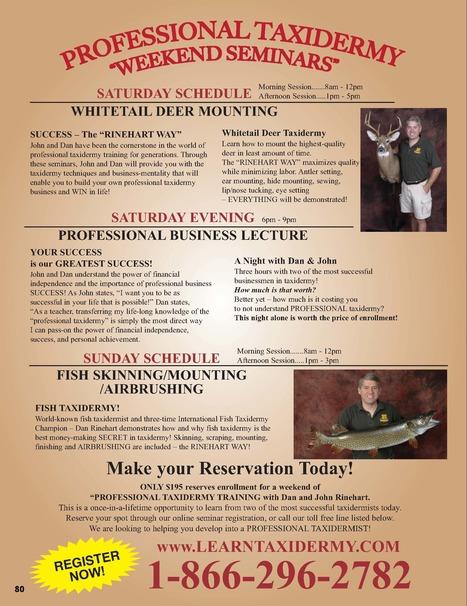 Professional Taxidermy Weekend Seminars | Taxidermy School | Scoop.it
