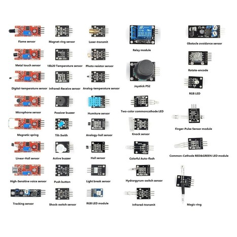 SainSmart 37 in 1 Modules Compatible Arduino Sensor Kit UNO R3 Mega2560 Mega328 Nano 3D Printing, Arduino, Robotics | Sainsmart | Raspberry Pi Accessories | Scoop.it