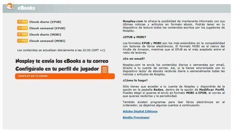 Nosplay.com estrena versión para ebook   Nosplay.com   Blog   Libros electrónicos   Scoop.it