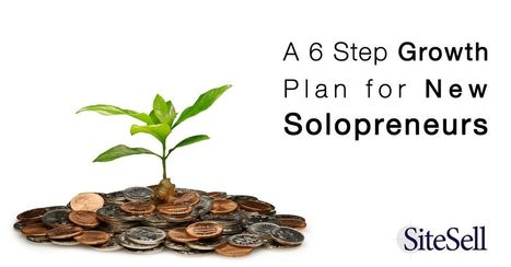 A 6 Step Growth Plan for New Solopreneurs - The SiteSell Blog | The Content Marketing Hat | Scoop.it