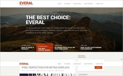 Everal - A Free Modern WordPress Theme from Cohhe Themes | Free & Premium WordPress Themes | Scoop.it