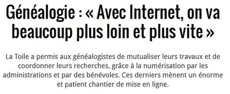 Article du jour (254) : Avec internet … (Nouvel Obs) | CGMA Généalogie | Scoop.it