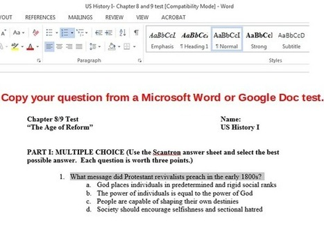Make Paperless Assessment with Google Forms - Part 1 of 2 | Using Google Drive in the classroom | Scoop.it