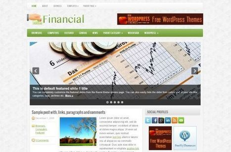 Free Financial Green Business Wordpress Theme » Free Website Templates and Themes | Concept illustration | Scoop.it