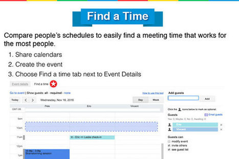 [Infographic] 25 Google Calendar Hacks to Save You Time | Employee Engagement - Hppy Scoop | Scoop.it