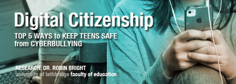 Digital Citizenship: Top 5 Ways to Keep Teens Safe from Cyberbullying | Faculty of Education | ICT in preservice education | Scoop.it
