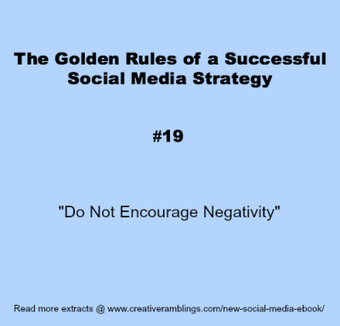 Do not encourage negativity (4th extract from my upcoming new eBook) | learning by using iPads | Scoop.it