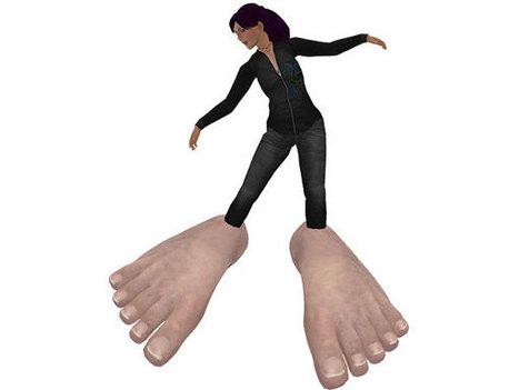 Funny Free Wearable Giant Feet - Fun Freebie Stuff - Virtual Vagabond | Second LIfe Good Stuff | Scoop.it