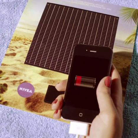NIVEA: Solar Powered iPhone Charger Print Ad | Social media culture | Scoop.it