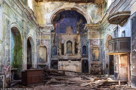 Amazing grace: Hauntingly beautiful photographs offer glimpse inside crumbling Italian church left derelict for 30 years after earthquake that wiped out entire village | What's new in Visual Communication? | Scoop.it