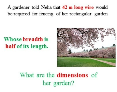 The dimensions of rectangular garden   THE MORE YOU PRACTICE MATHS, THE MORE SURE YOU ARE!   Scoop.it