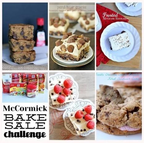 Raspberry Brownies with Cream Cheese Frosting Recipe #McCormickBakeSale | Cooking | Scoop.it